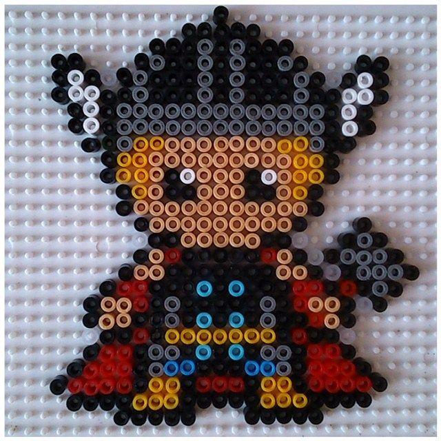 Mod le thor en perles repasser hama cross stitch pinterest perler beads hama beads and - Modeles perles a repasser ...
