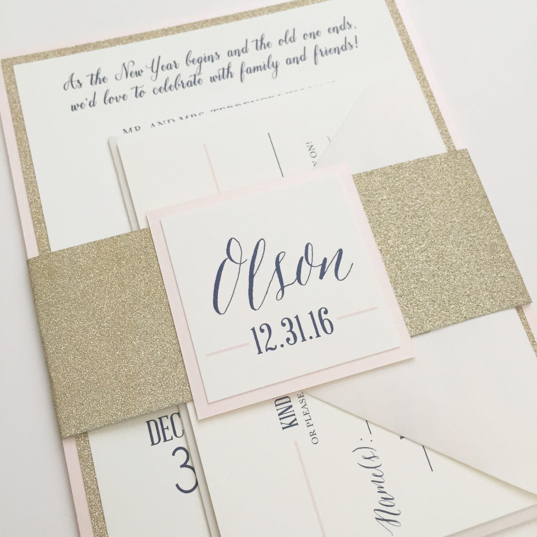 Glam Wedding Inspiration - Glitter Invitations | Invitations ...