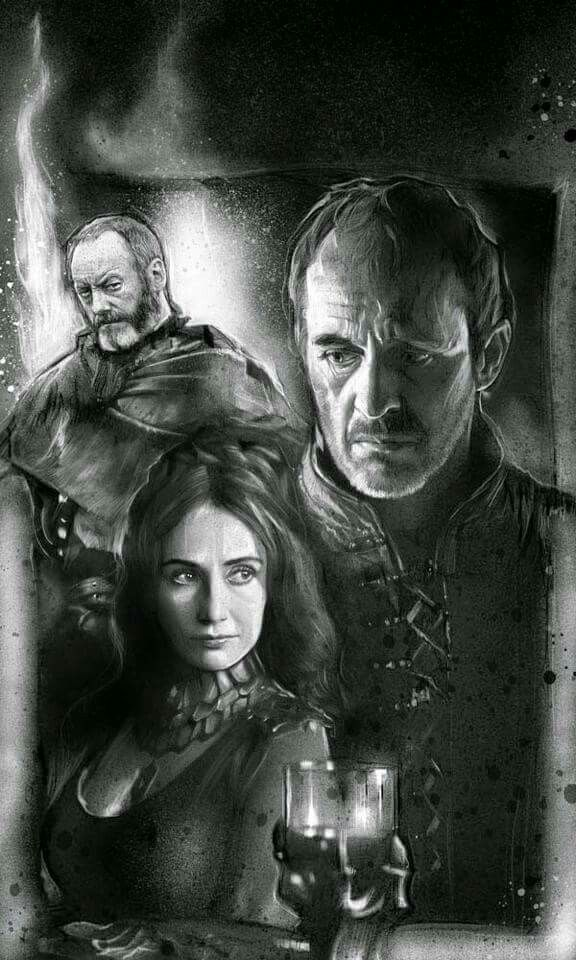 Davos, King Stannis and Melisandre