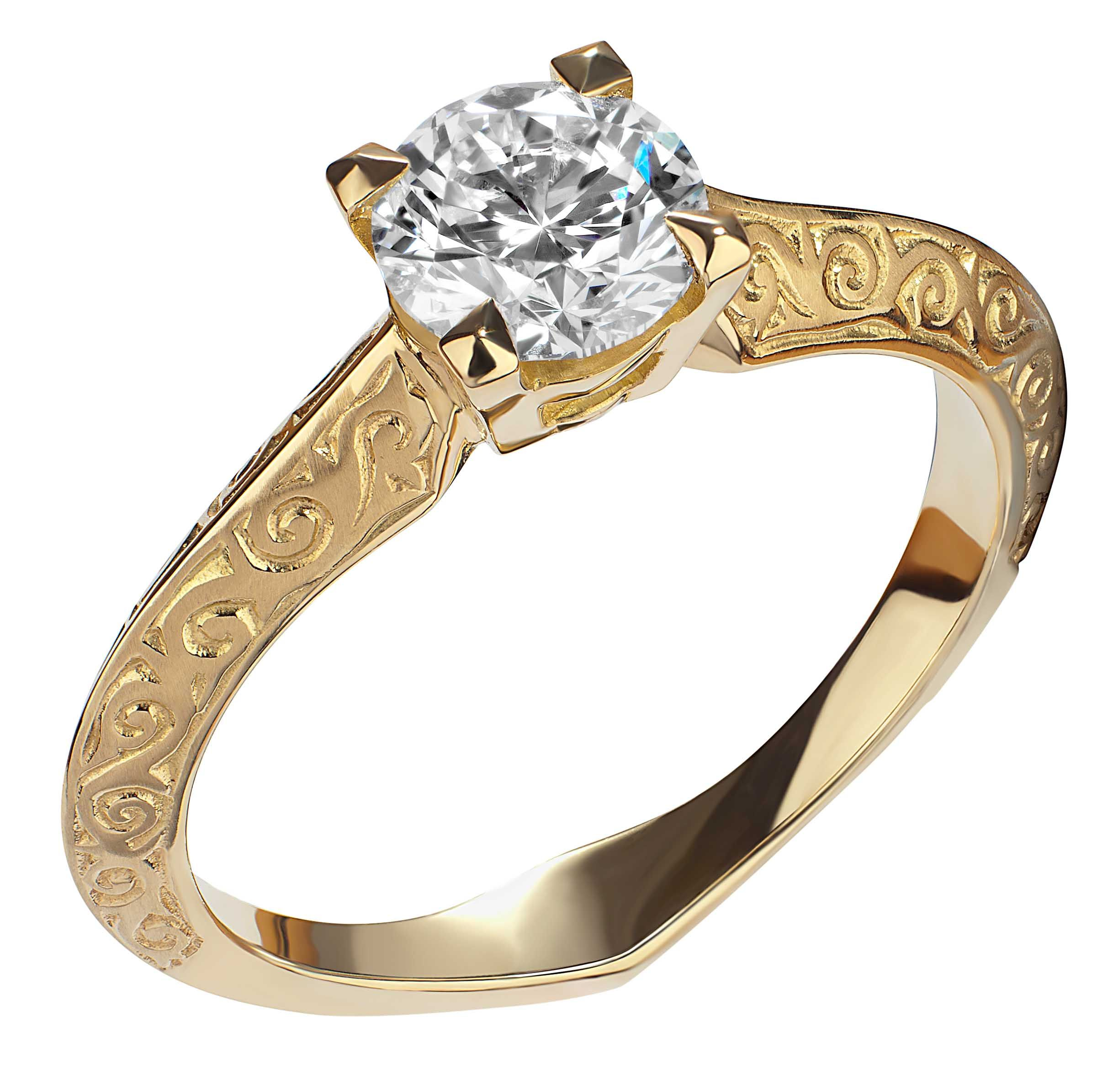 Stephen Webster 18 carat Yellow Gold Engagement Ring with 74ct