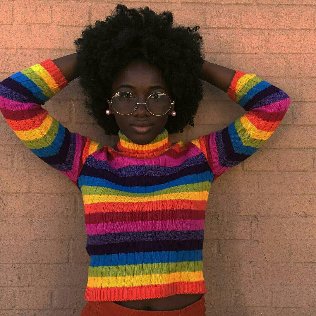 Natural Black Girl Fashion: Natural Hair Styles, Rainbow