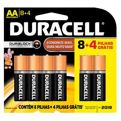 [Kalunga] 12 pilhas AA / AAA Duracell - R$ 15,10 / 16,60 - Frete Grátis várias regiões