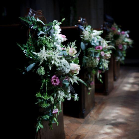 Wild Flowers Church Pew Ends For Wedding Church Flowers