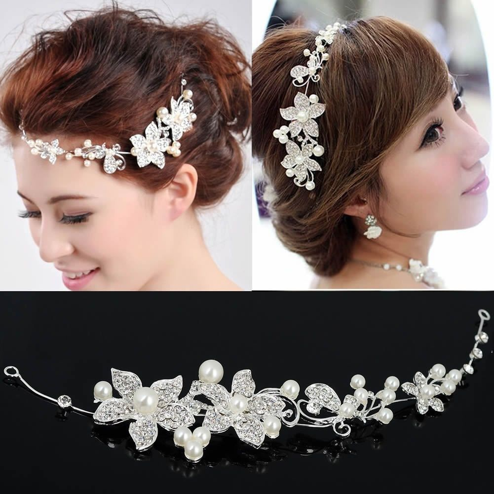 Cheap Wedding Hair Jewelry Buy Quality Directly From China Rhinestone Suppliers Tiara Diadem Flower Beaded Headdress Flowers Bridal