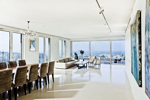 Modern Apartment in Tel-Aviv With A Beautiful Panoramic View Tel - interieur design studio luis bustamente