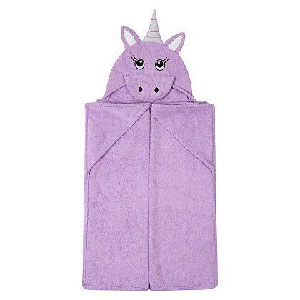 George Home Unicorn Hooded Towel Garden At Asda