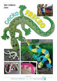 Blumenbunt: Gecko Frecko - free Gecko pattern in German