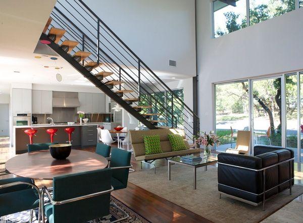 60 model ruang tamu terbuka minimalis modern | model rumah keren ... - Designer Chefmobel Moderne Buro