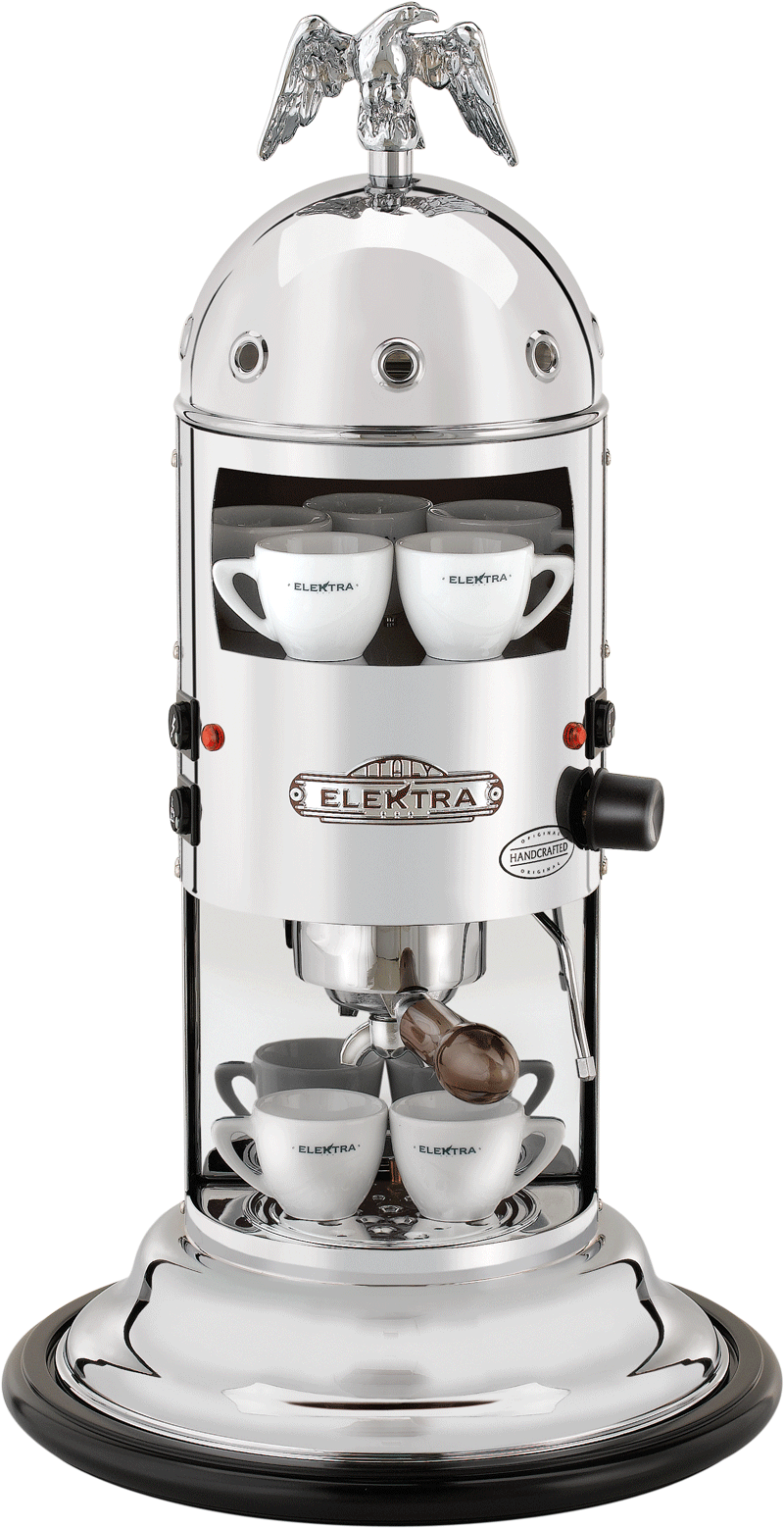 Vertical home espresso machine to use with ground coffee