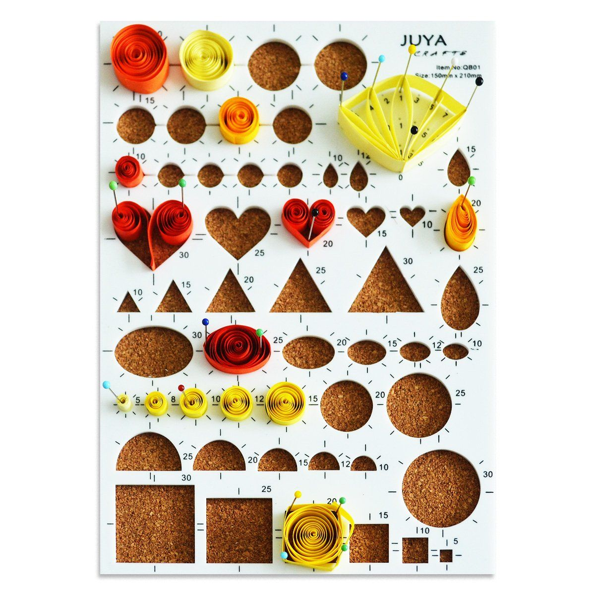 Juya Paper Quilling Kits with 30 Colors 600 Strips and 8 Tools Paper Width:3mm,
