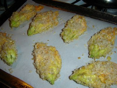 Honey From Rock: Triple Cheese Stuffed Squash Blossoms, Baked