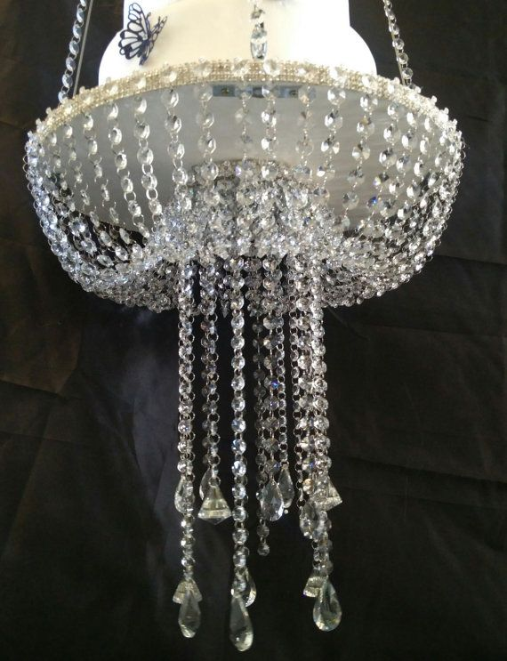 Suspended Cake Swing Mirror Top Gold Or Silver Faux Crystal Chandelier Style Drape Ideias 15 Anos