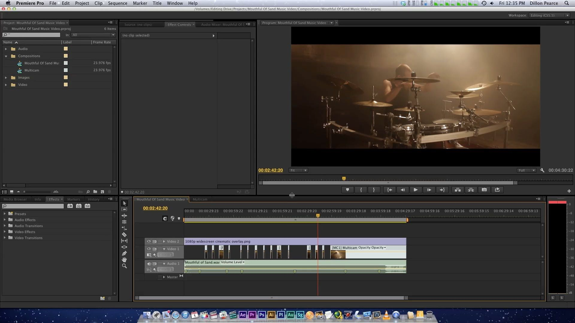 Premiere Pro CS6 - Music Video Editing Workflow | Dillon