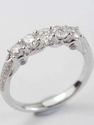 5 Stone Vintage Style Wedding Ring Rg 3619 In 2018 Vintage Style