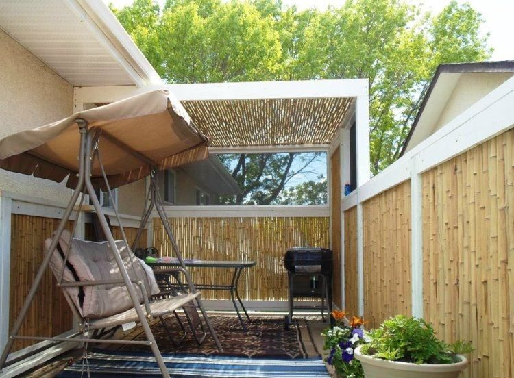 Brise vue bambou et cl ture pour plus d intimit dans le jardin brise vue - Palissade en bambou comment fabriquer un brise vue ...
