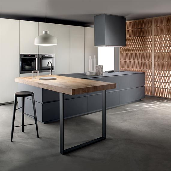 Cucine Obliqua - Cucine Moderne di Design - Ernestomeda | Black and ...