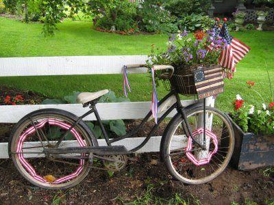 leuk idee voor een oude fiets!