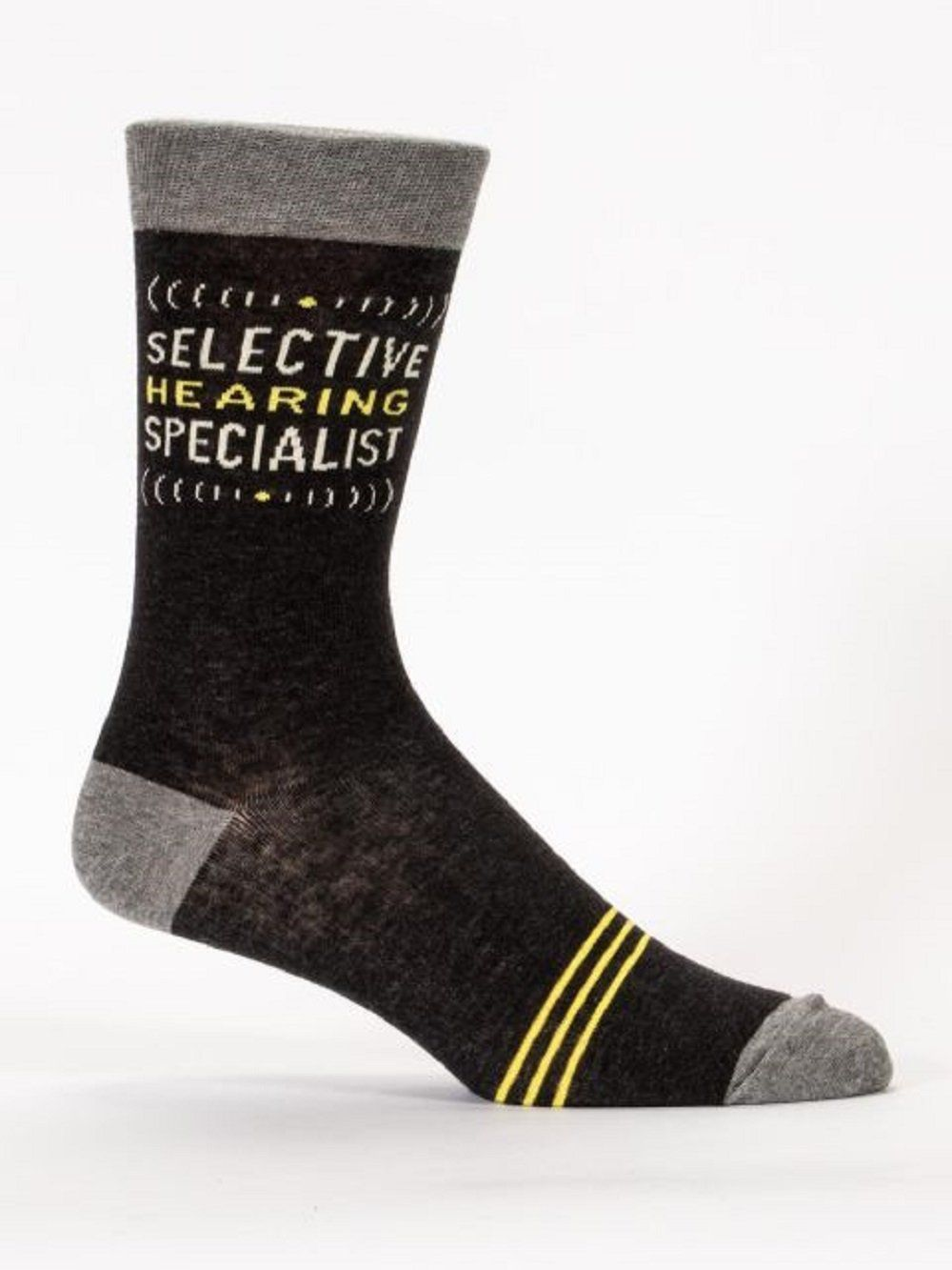 Selective Hearing Men S Crew Socks Hipster Nerdy Geeky Trendy Black Gray Funny Novelty Socks With Cool Design Bold Crazy Unique Quirky Dress Socks Mens Crew Socks Blue Q Socks Blue Q [ 1333 x 1000 Pixel ]