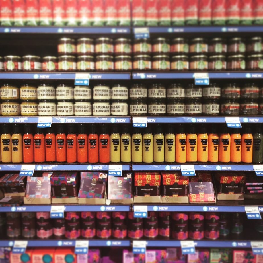 On the shelves at whole foods market kensington on the