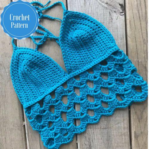Lacy Crochet Top Pattern Boho Crop Top Pattern Crochet Tank Top