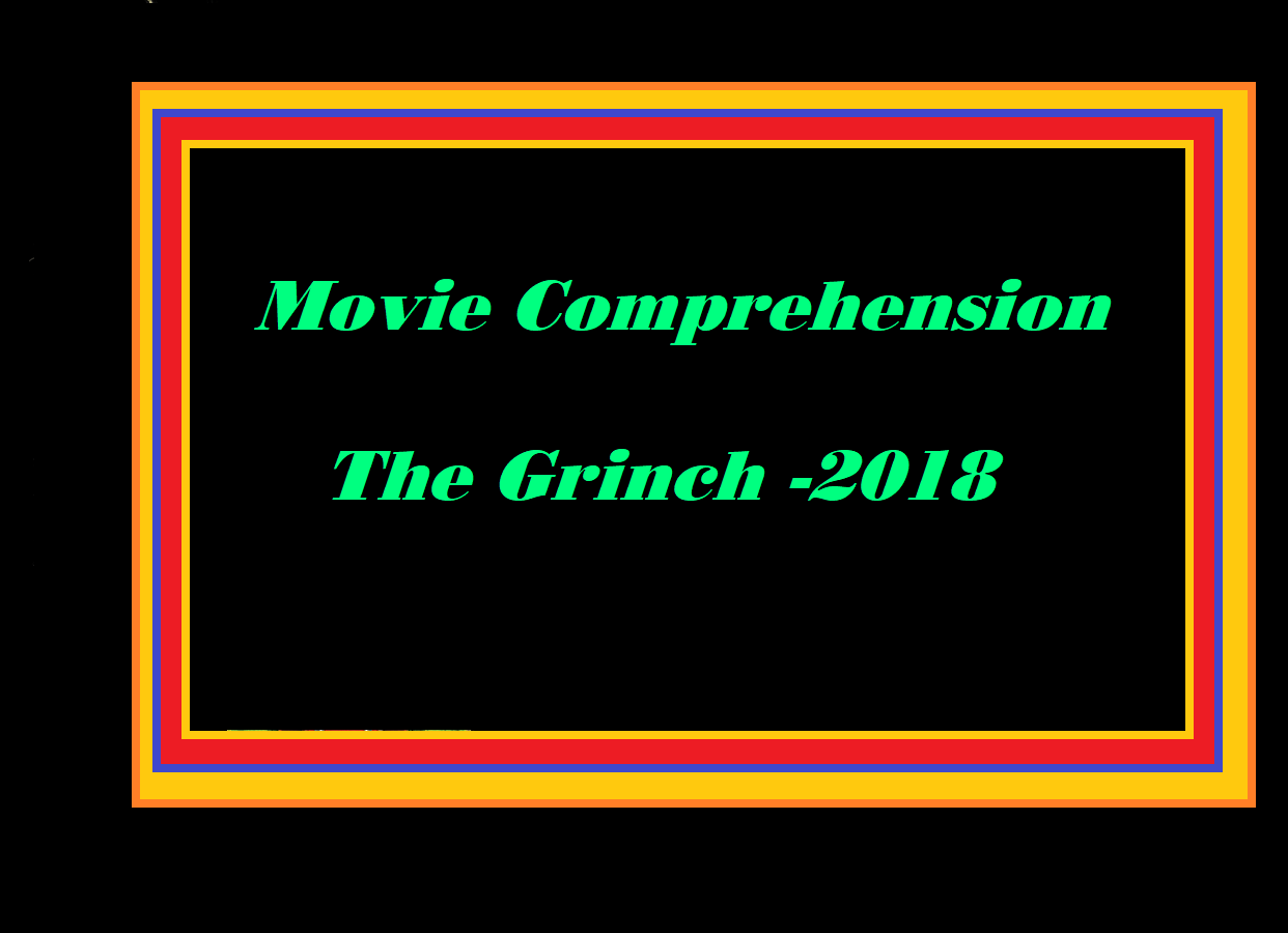 Movie The Grinch Comprehension Worksheet And Key