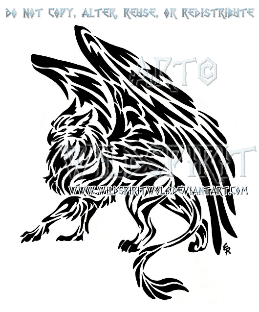 tribal gryphon tattoo by wildspiritwolf on deviantart. Black Bedroom Furniture Sets. Home Design Ideas