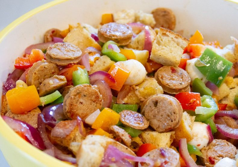 Sheet Pan Chicken Sausage and Vegetables Al Fresco in