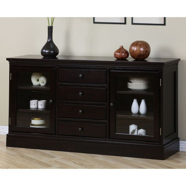 Espresso 4 Drawer Buffet Four Brown