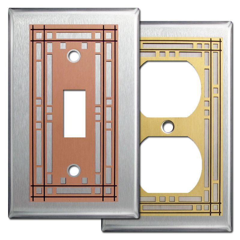 Mission Light Switch Wall Plates Stainless Steel Decorative Light Switch Covers Switch Plate Covers Light Switch Covers