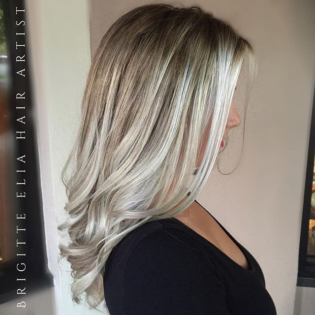 Blonde Frosted Hair