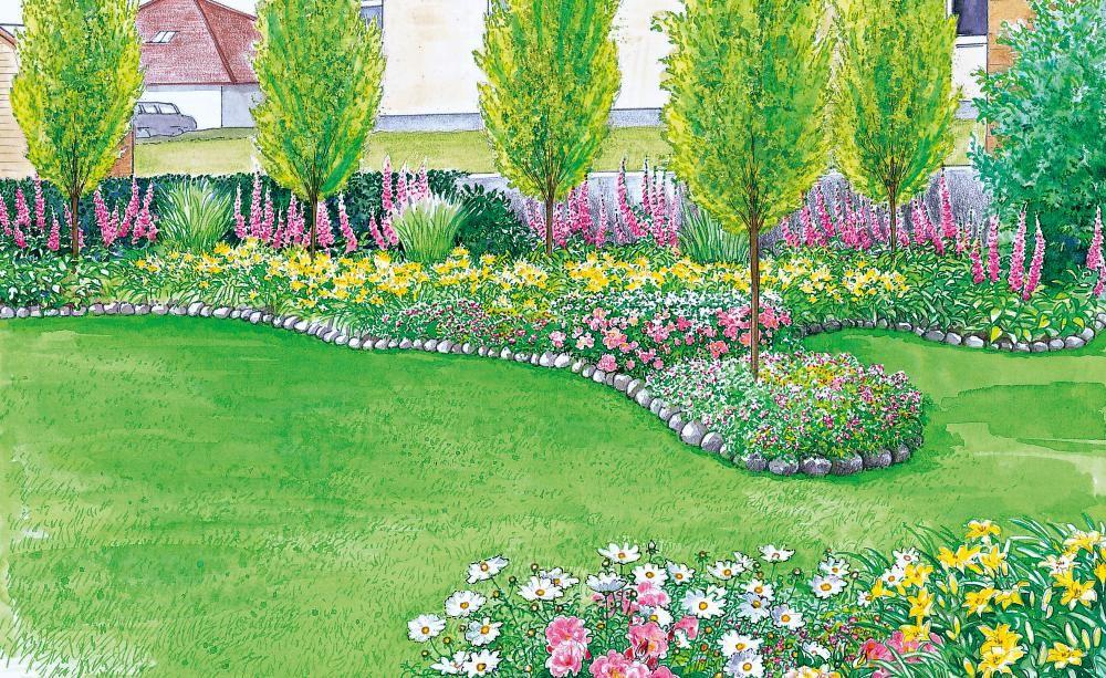 Sichtschutz Fur Einen Kurzen Breiten Garten Diy Gartenprojekte Gartenprojekte Garten Design