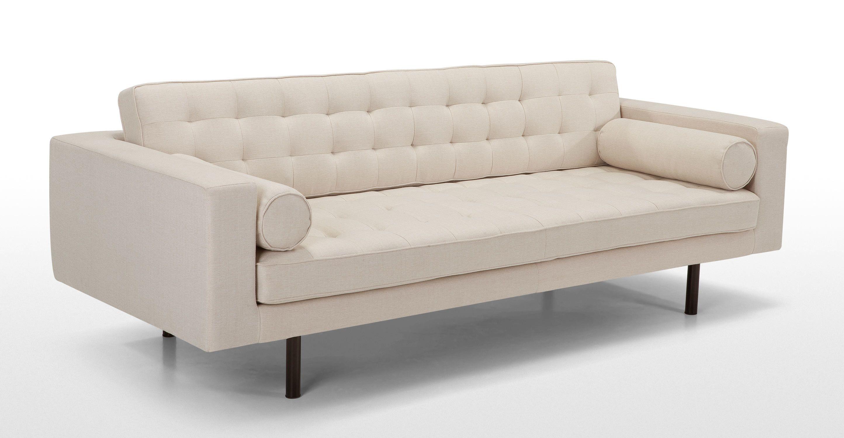 Fielding 3 Sitzer Sofa Naturbeige Mit Fischgratmuster 3 Seater Sofa Sofa Furniture Inspiration