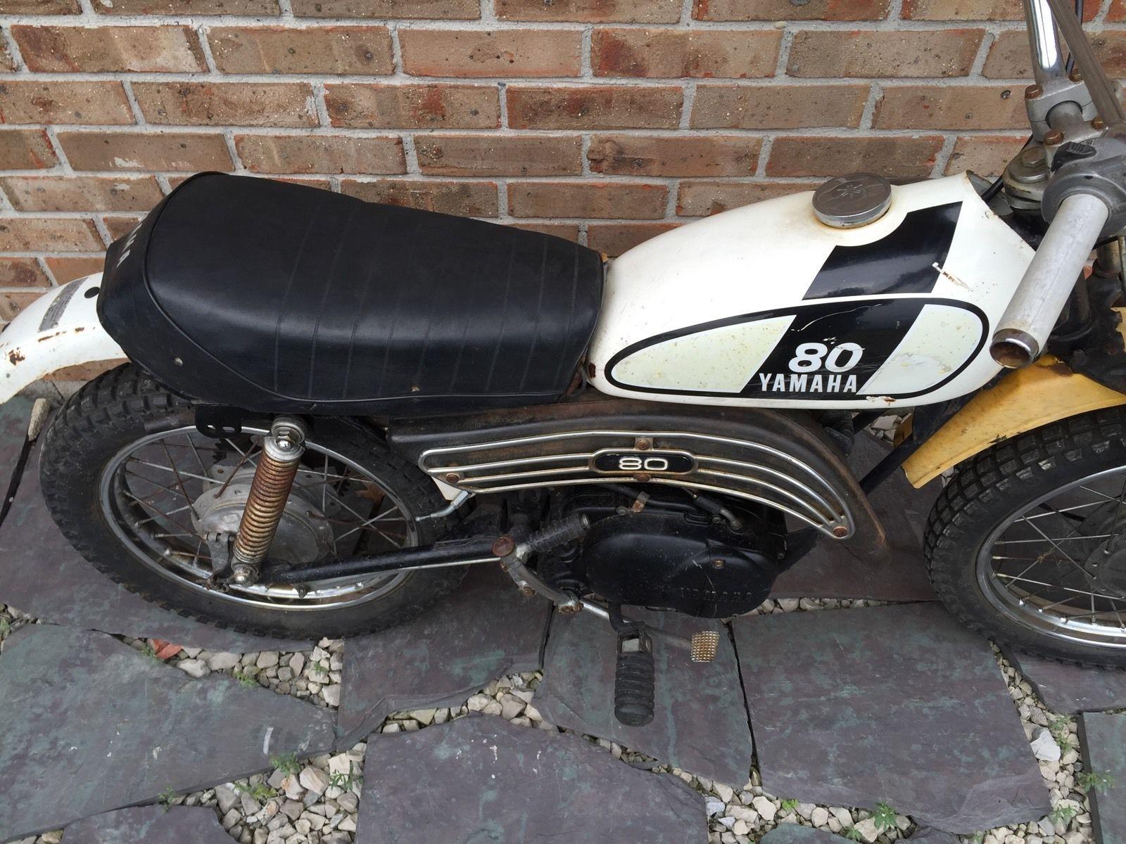Vintage 1974 Yamaha Gt 80 Mx Mini Dirt Bike For Parts Restoration