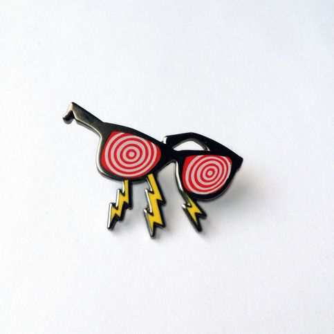 X-Ray Glasses Pin from Future Zine