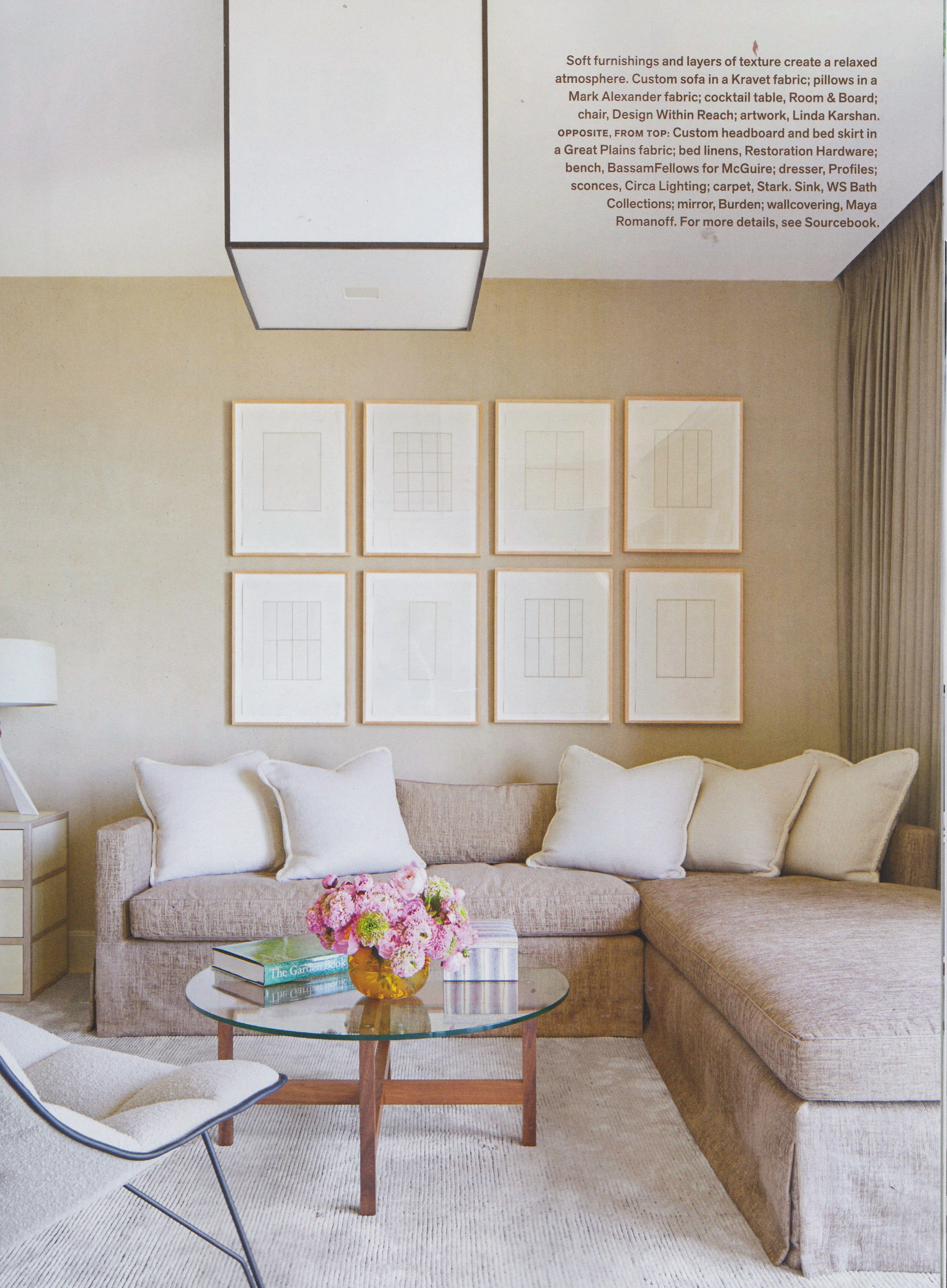 Campion Platt, Palm Beach, Veranda Magazine, Neutral, Family Room, Art In