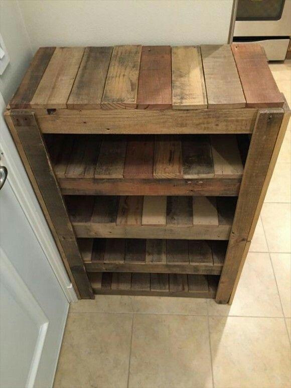 cookie cutter organizer diy entryway pallet diy wooden on wood shoe rack diy simple id=95811