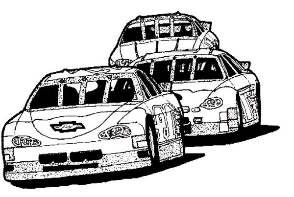 Car Race Track Coloring Page