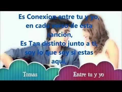 Entre Tu Y Yo Violetta Letra Tomas Youtube Canciones De Violetta Letras Canciones