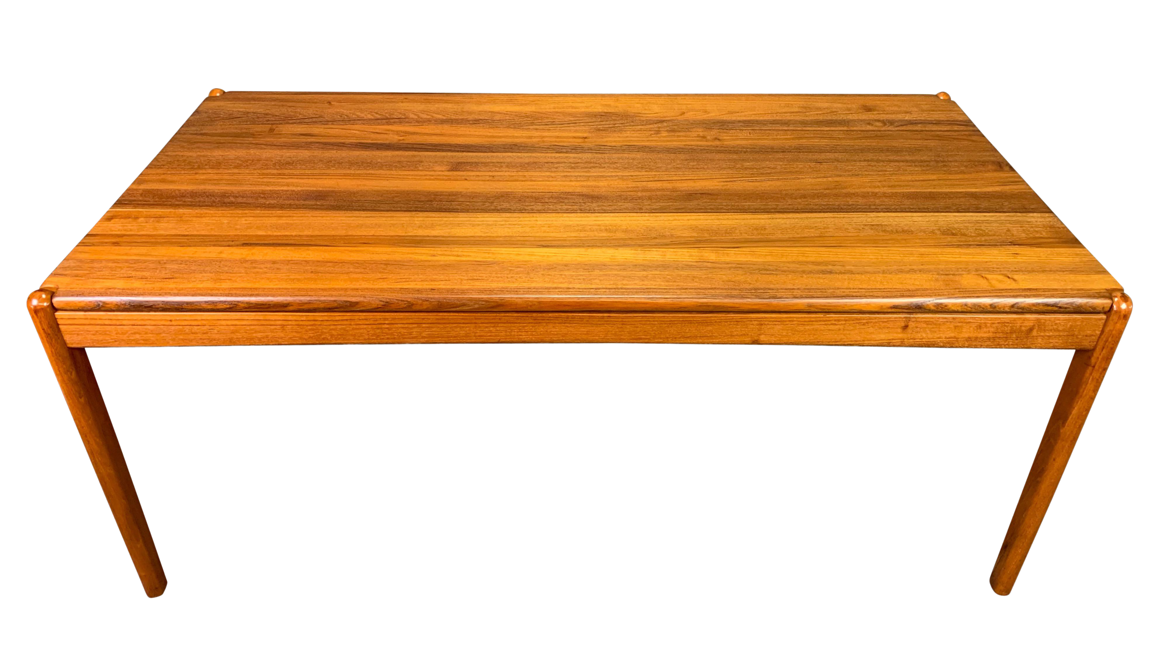 1960s Scandinavian Modern Solid Teak Dining Table With Images