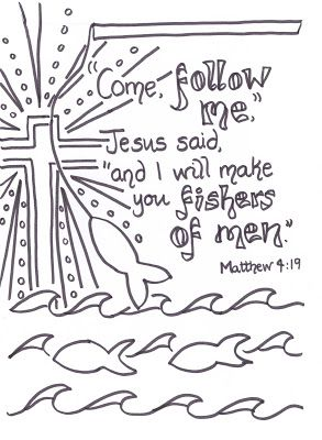 Fishers Of Men Crafts Prayers And Game Scripture Doodle