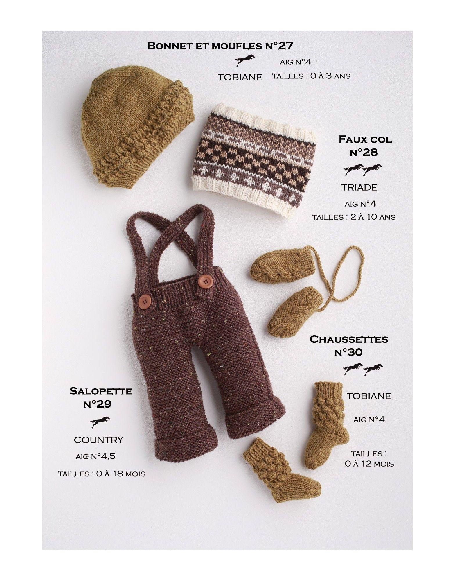 Modèle Faux col CB17-28 Patron tricot gratuit | pull | Pinterest