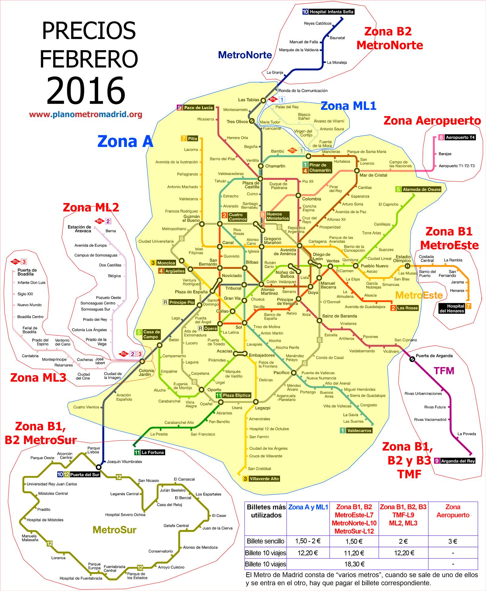 Mapa Del Metro Madrid.Precios Y Mapa Metro Madrid Travel Madrid Metro Madrid