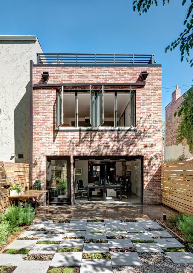 Une maison en briques rouges brooklyn extension for Extension brique