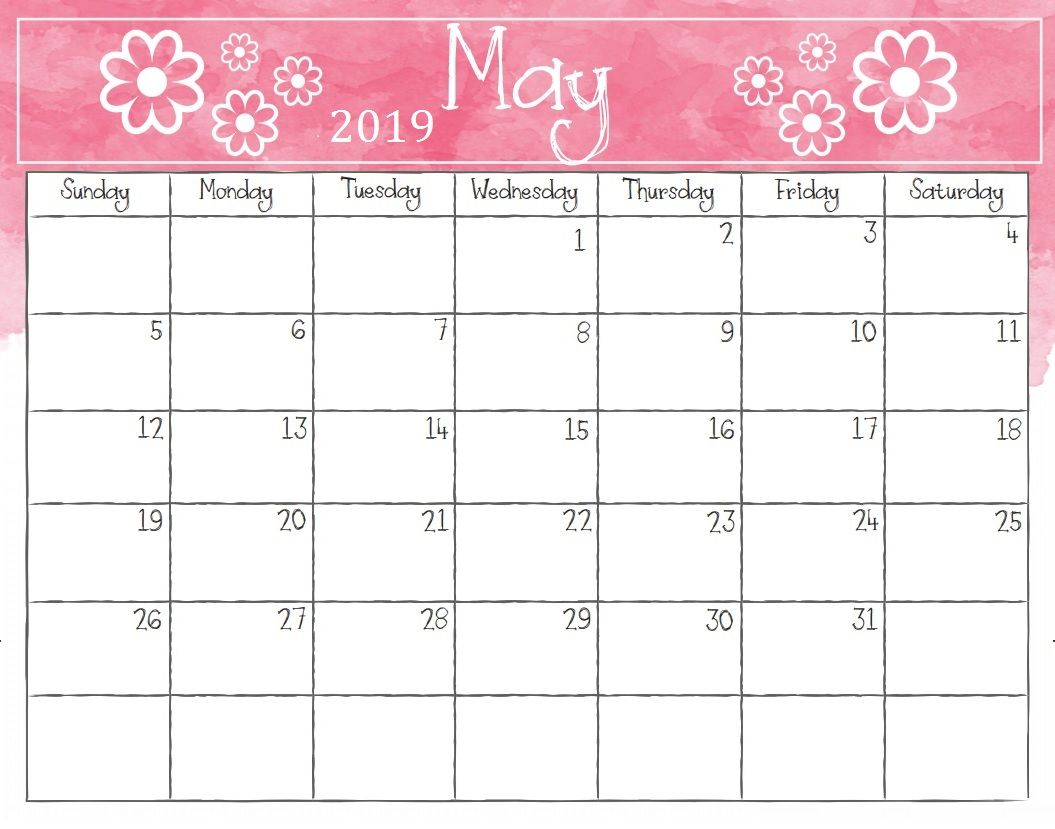 Pretty May 2019 Calendar Cablo Commongroundsapex Co
