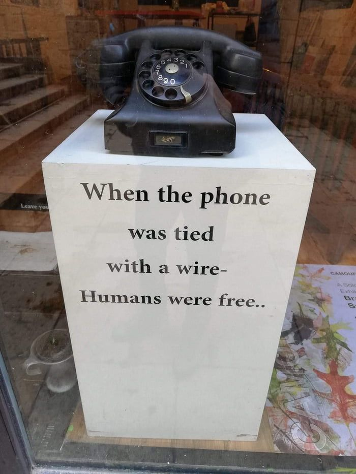 Now we are phone slaves