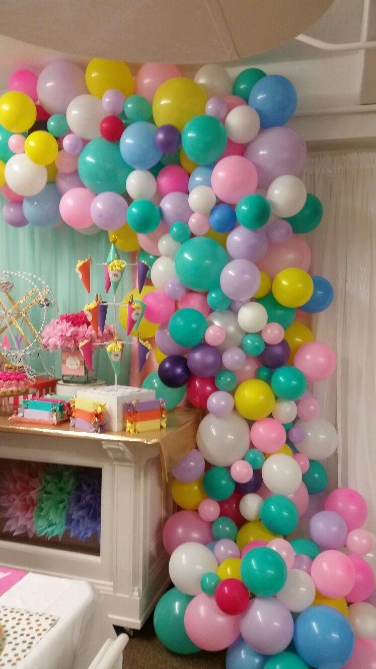 Cascading balloon arch #ConfettiiCouture #BookYourEventToday #CustomEventPlanning