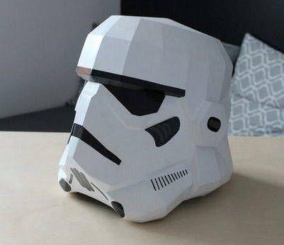Star Wars Wearable Stormtrooper Helmet V2 For Cosplay Free Papercraft Download Stormtrooper Helmet Star Wars Diy Star Wars Crafts