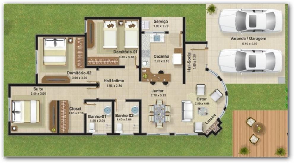 Plano de casa arquitectura urbanismo eficiencia for Planos de arquitectura de casas pdf