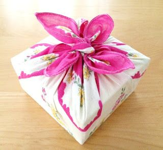 vintage hanky gift wrapping