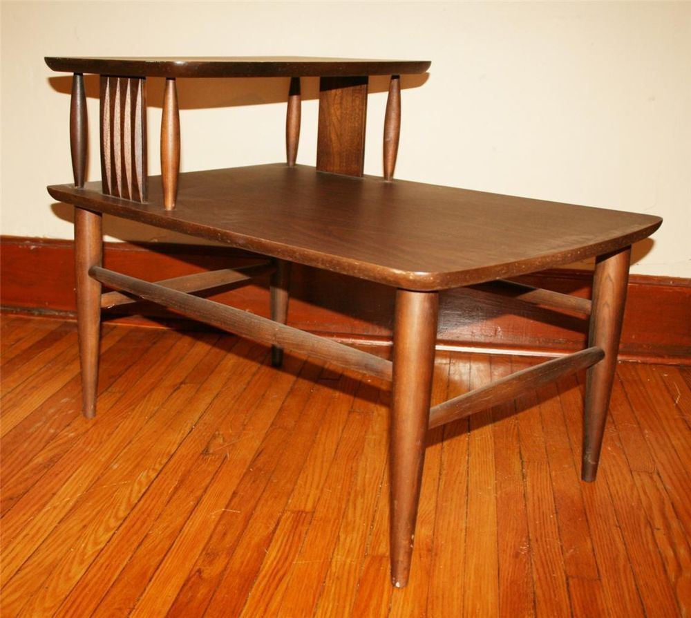 Admirable Danish Modern Step Table Wood Vtg 60S Mid Century Wooden Download Free Architecture Designs Scobabritishbridgeorg